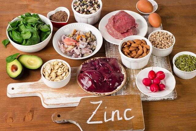 zinc ในอาหารทั่วไป